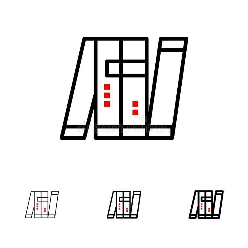Konstgjord, autonom, för Bot, intelligent, för militär djärv och tunn svart linje symbolsuppsättning vektor illustrationer