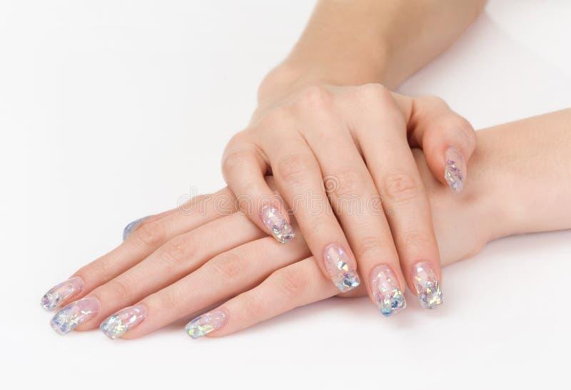 konstgjord härlig manicure royaltyfria bilder