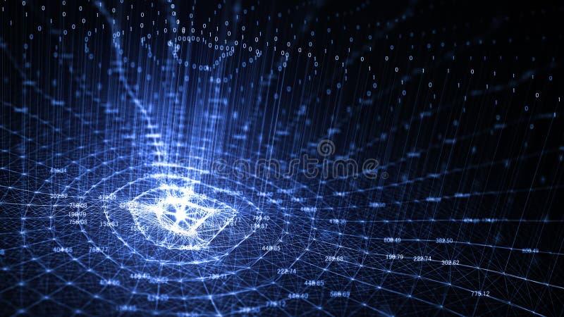 Konstgjord intelligens AI f?r teknologi och internet av begreppet f?r saker IOT vektor illustrationer