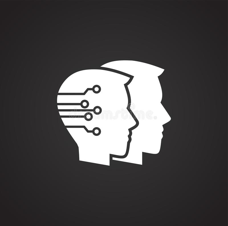 Konstgjord intelligens Ai gällde symbolen på bakgrund för diagram och rengöringsdukdesign enkel terminal f?r flygplanillustration vektor illustrationer