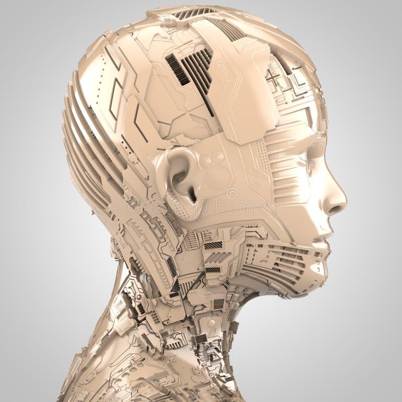 Konstgjord intelligens och robotteknik stock illustrationer