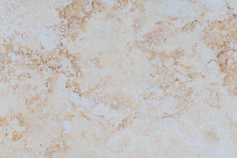 Konstgjord marmor för beige bakgrund Ljus - brunt royaltyfri bild