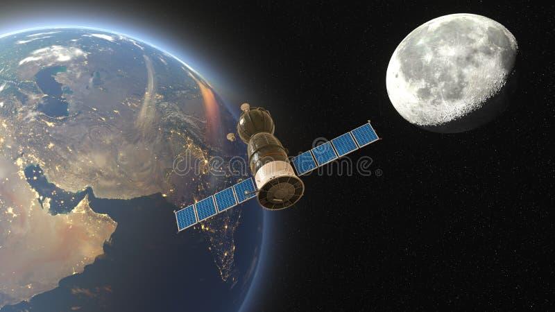 konstgjord satellit stock illustrationer