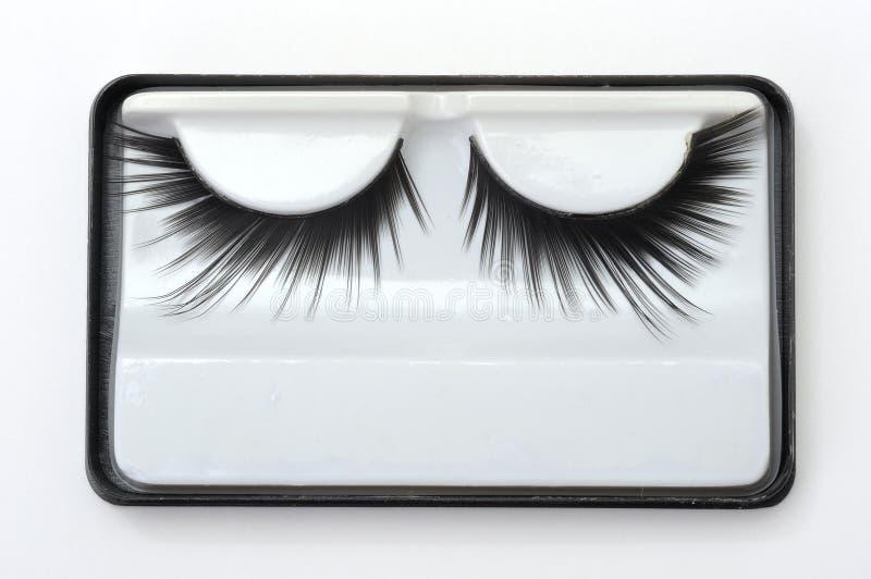 Konstgjorda ögonfranser royaltyfri bild