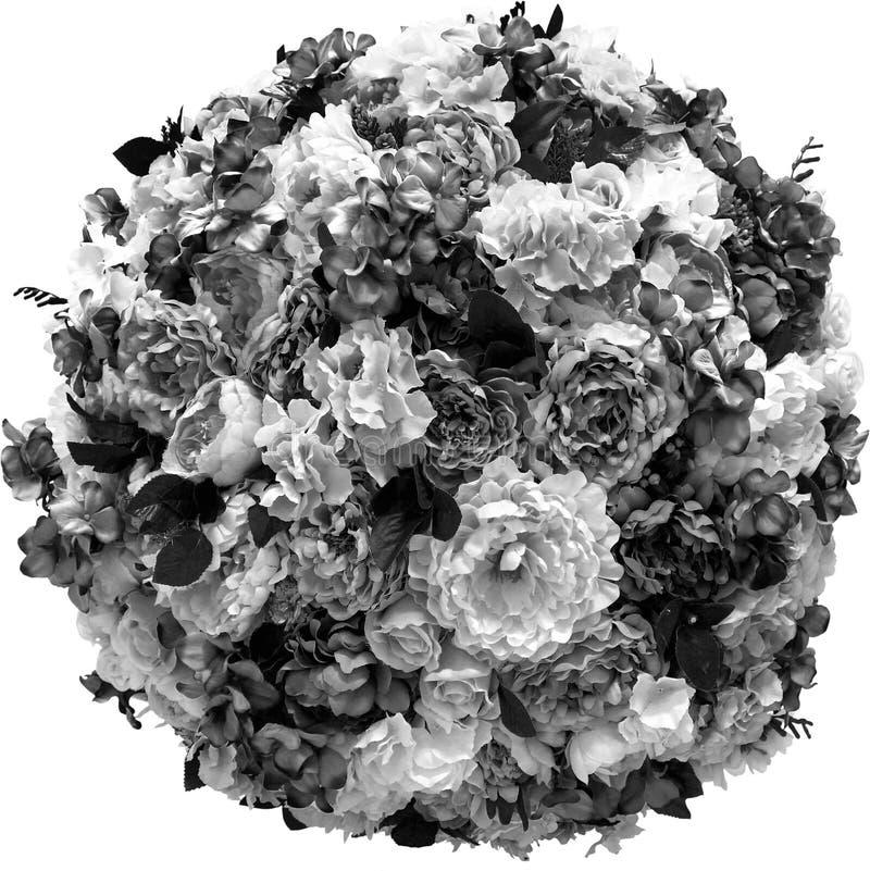 Konstgjorda blommor sfärisk ordning som isoleras på vit arkivfoton