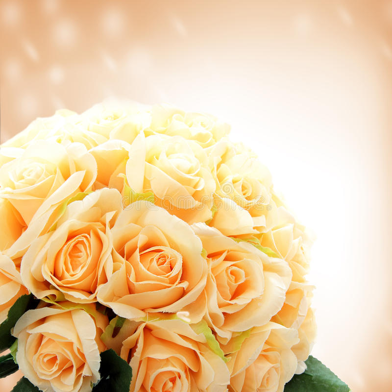 Konstgjorda rosblommor royaltyfri bild
