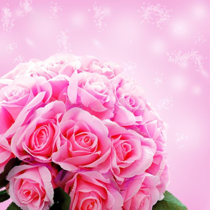 Konstgjorda rosblommor royaltyfria foton
