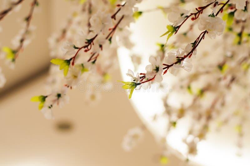 Konstgjorda Sakura blommor royaltyfri bild