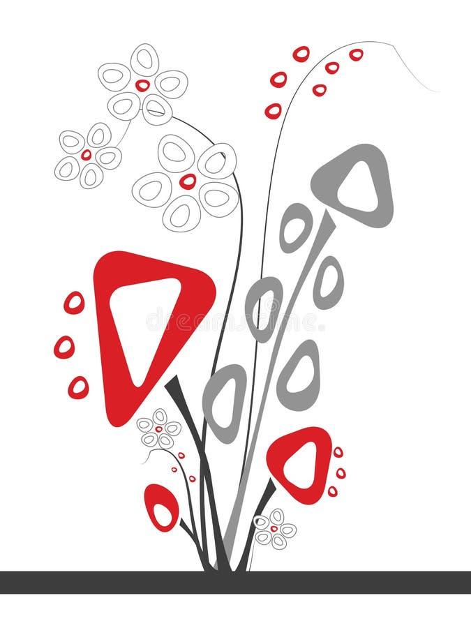 Konstgjort blommastycke royaltyfri illustrationer