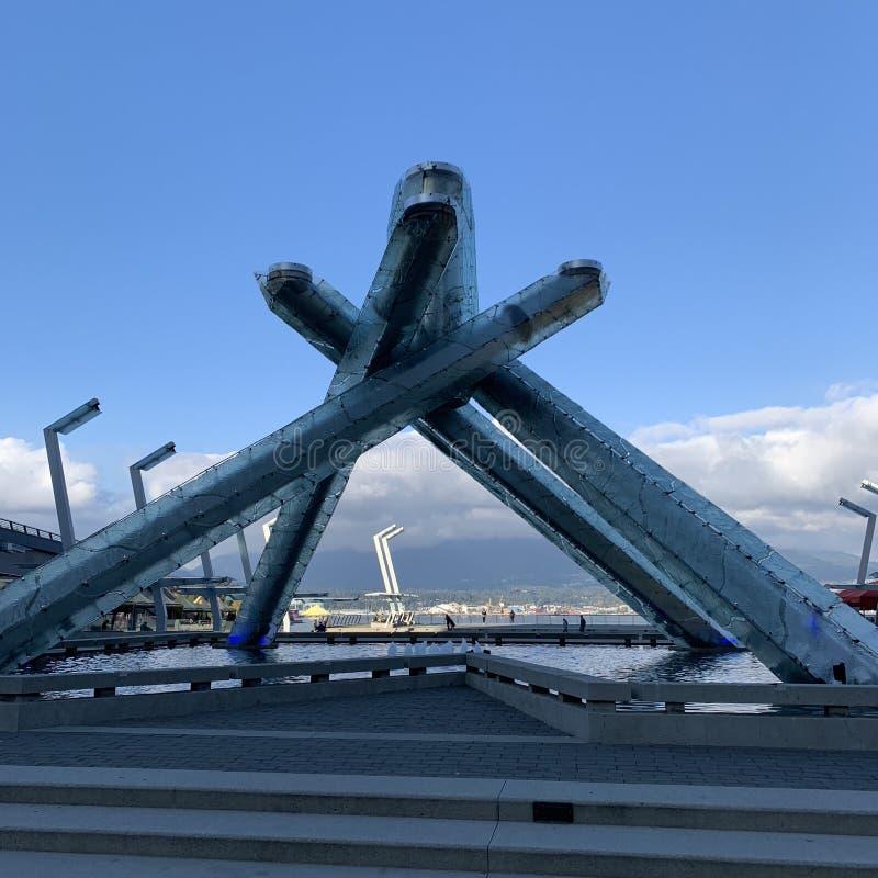 Konstig byggnad, Vancouver, Kanada royaltyfri foto