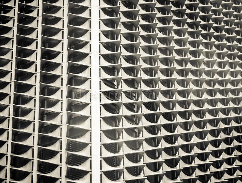 Konstig byggnadscloseup arkivfoto