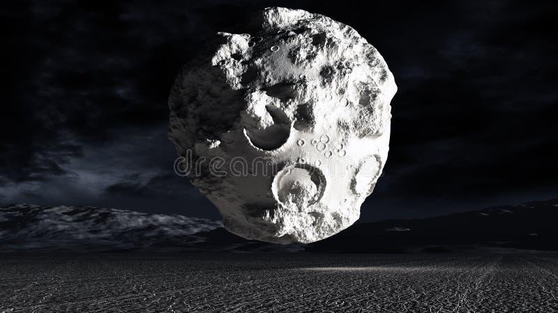 konstig moon stock illustrationer