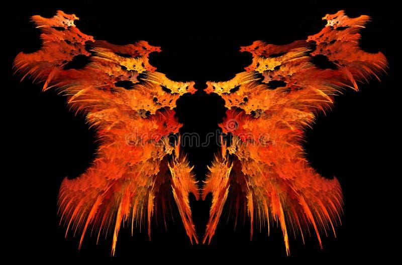 Konstigt spegelförsett abstrakt begrepp för flamma vektor illustrationer