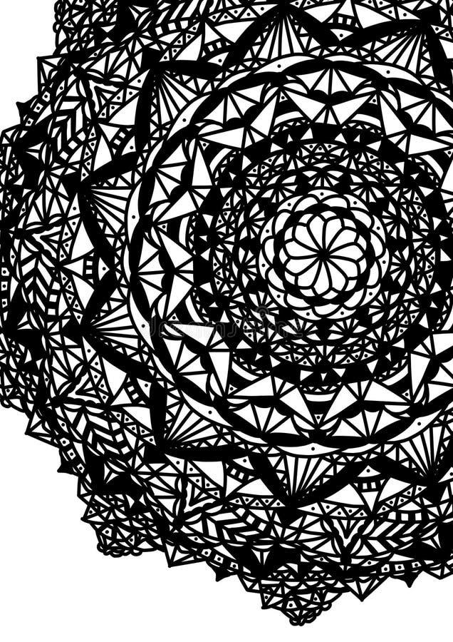 Konstillustration Attraktionmandalaöversikt för världen vektor illustrationer