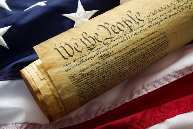 Konstitution der Vereinigten Staaten stockbild