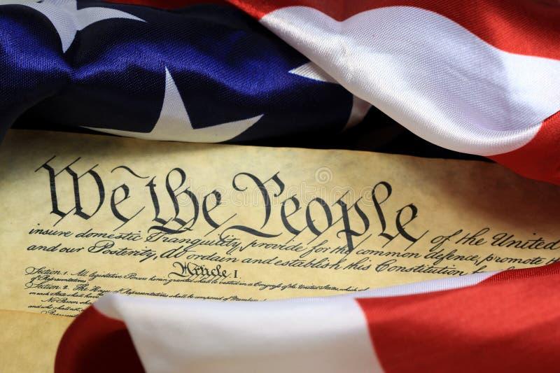 Konstitution der Vereinigten Staaten - wir die Leute lizenzfreie stockbilder