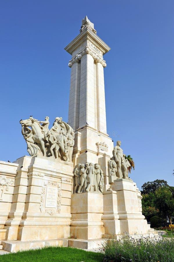 1812 konstitution, monument till domstolarna av Cadiz, Andalusia, Spanien arkivbilder