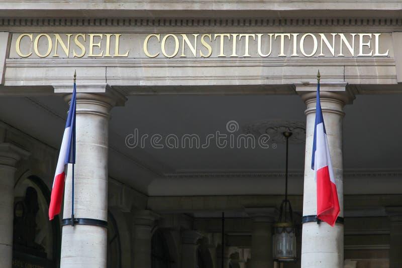 Konstitutionellt råd i Frankrike royaltyfri bild