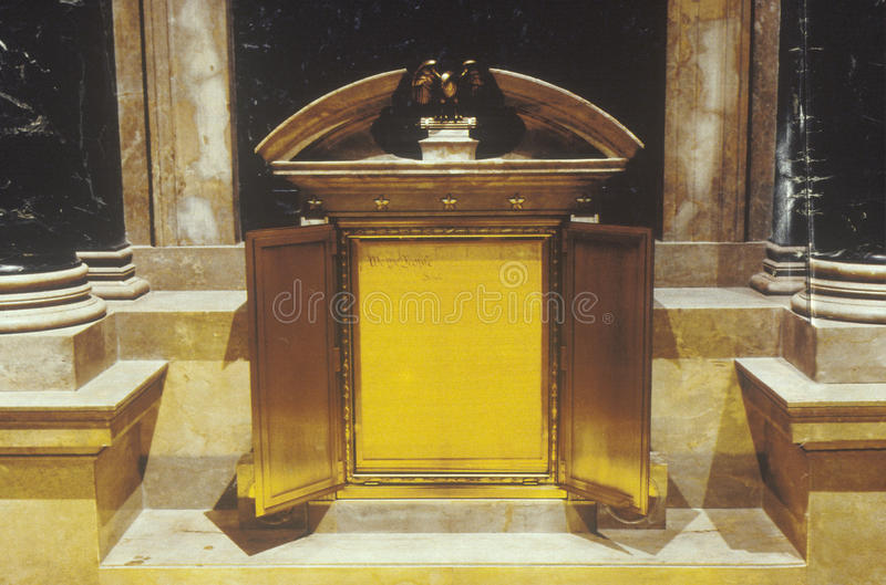 Konstitutionen av Förenta staterna, nationella arkiv, Washington, D C arkivfoto