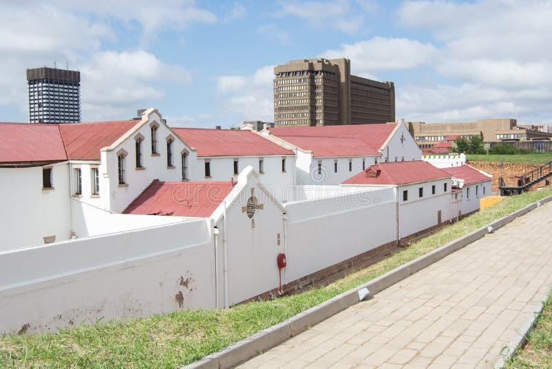 Konstitutions-Hügel, ein ehemaliges Militärfort und ein Gefängnis, jetzt ein lebendes Museum und ein Haus zum Bundesverfassungsge lizenzfreies stockbild