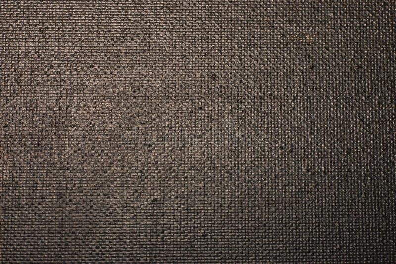 Konstkanfas täckas med svart målarfärg, för bakgrund och textu royaltyfria foton