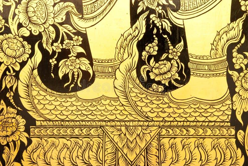 konstmålningsparet shoes thai stil arkivfoto