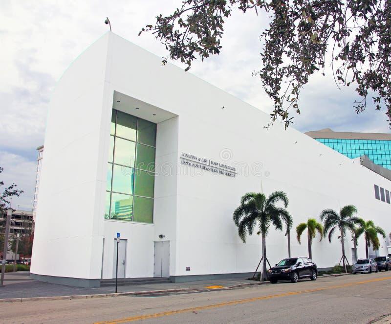 Konstmuseet, Fort Lauderdale royaltyfri foto