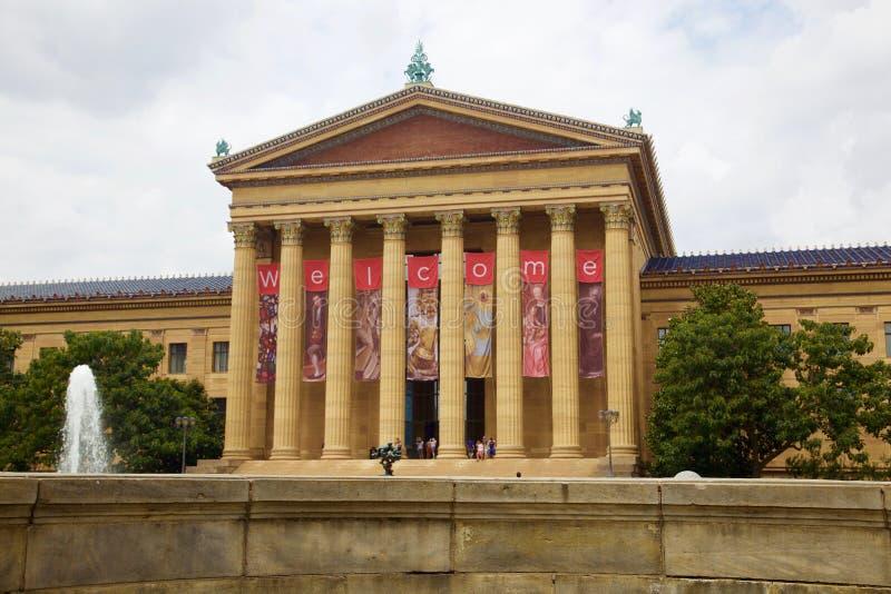 Konstmuseum philadelphia i Förenta staterna arkivbild