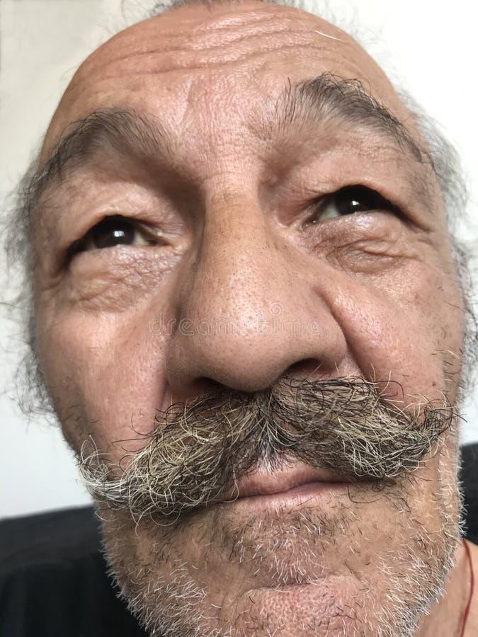 Konstnär med mustascher fotografering för bildbyråer