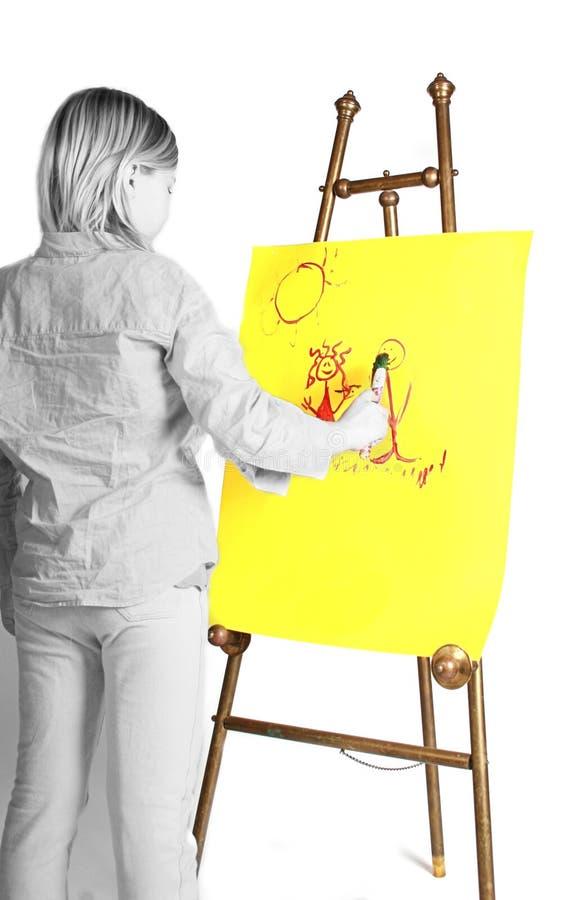 Konstnär på stafflin royaltyfria foton