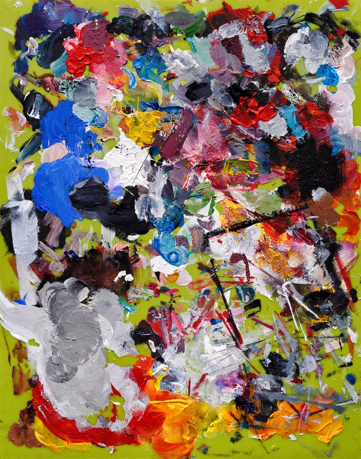 Konstnär Palette arkivbild