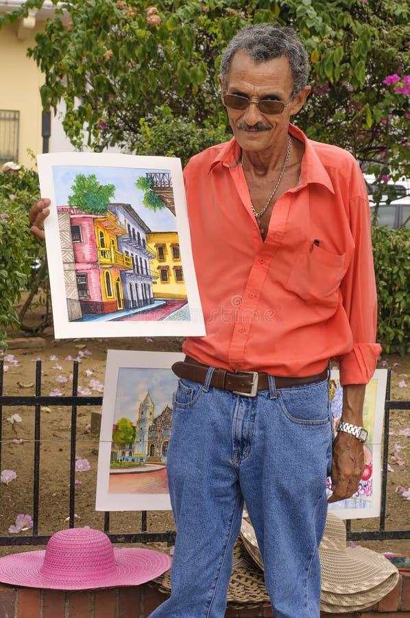 Konstnär Panama City, Panama royaltyfri bild