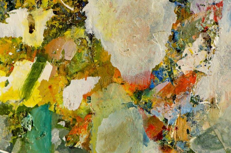 konstnären colors den olika masterpeacepaletten royaltyfri bild