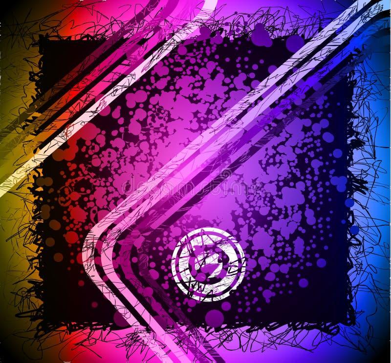 konstnärlig bakgrund colours den grungy regnbågen vektor illustrationer