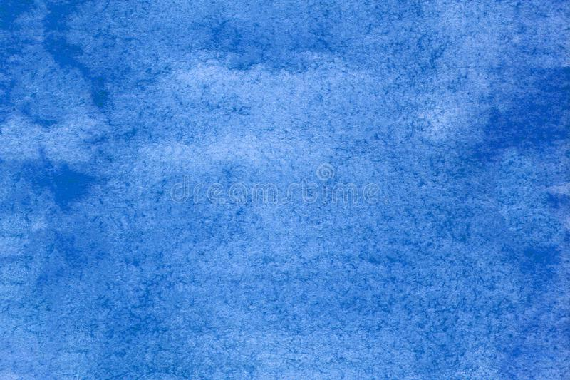 Konstnärlig blå illustration Designbakgrundselement Färgstark, blå texturerad För dekoration, ytor arkivfoto