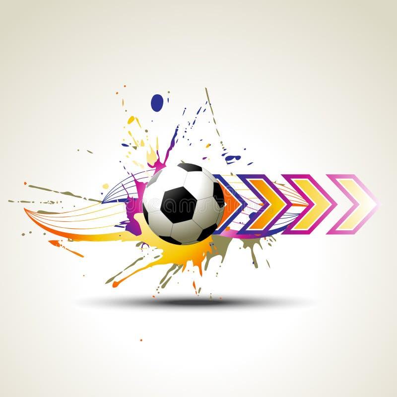 konstnärlig designfotboll vektor illustrationer