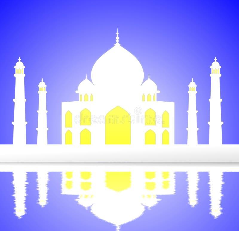 Taj Mahal illustration royaltyfri illustrationer