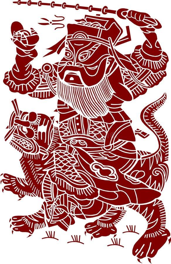 konstnärlig kinesisk modell royaltyfri illustrationer
