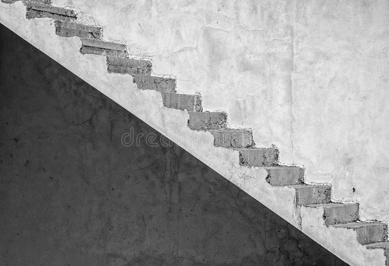 Konstnärlig konkret trappuppgång för Grunge (redigera), royaltyfri bild