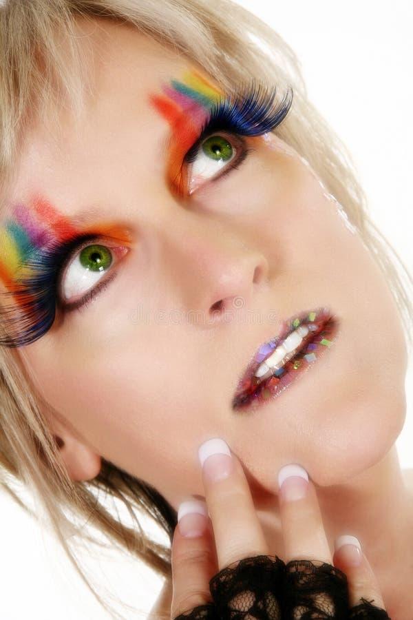 konstnärlig makeup royaltyfri foto