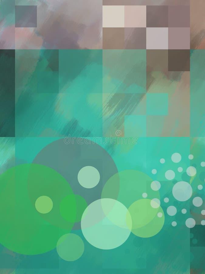 Konstnärlig och abstrakt bakgrund stock illustrationer