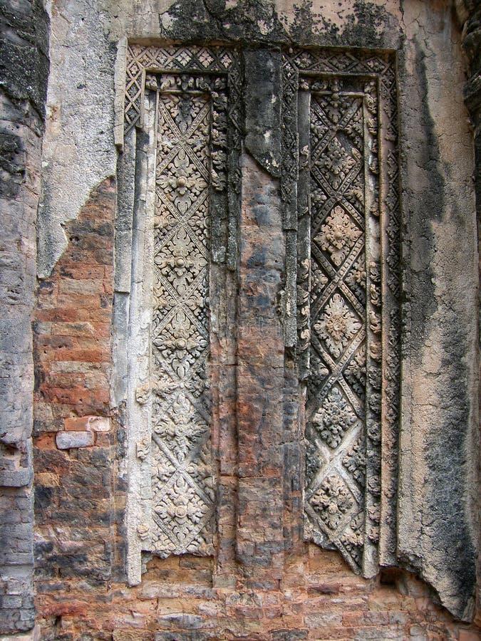 Angkor tempelportal royaltyfri fotografi