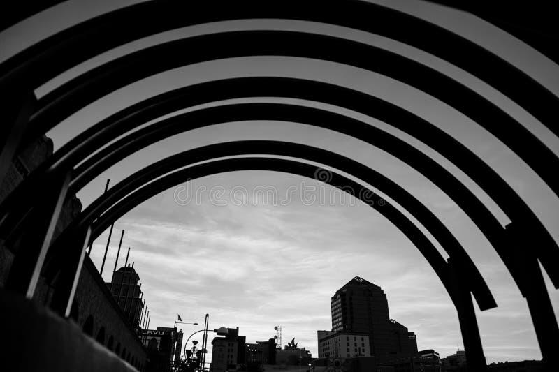 Konstnärlig sikt av en byggnad arkivfoton