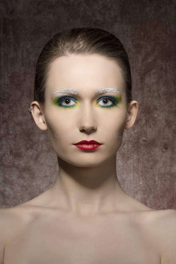Konstnärlig skönhetfors av kvinnan royaltyfria foton