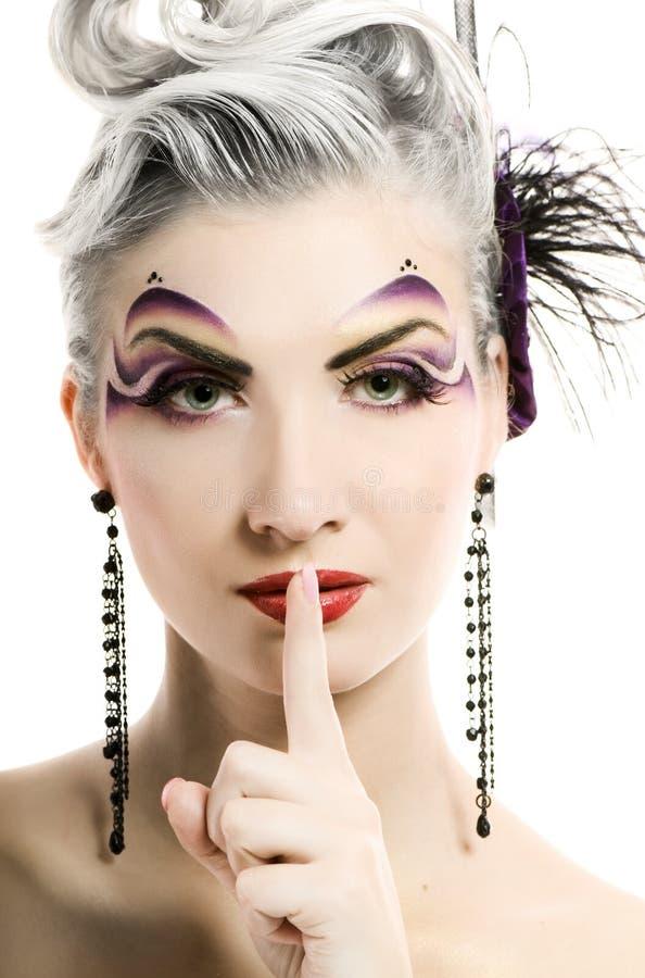 konstnärlig sminkkvinna royaltyfria foton