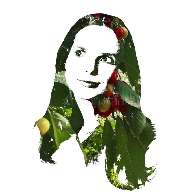 Konstnärlig stående av en fundersam ung kvinna arkivfoto