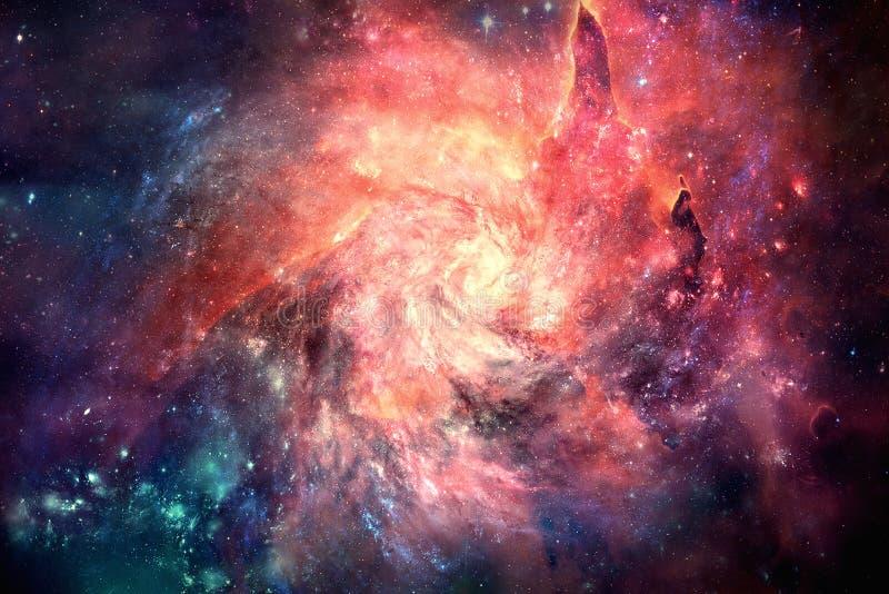 Konstnärlig unik mångfärgad ljus bakgrund för konstverk för nebulosaspiralgalax royaltyfri fotografi