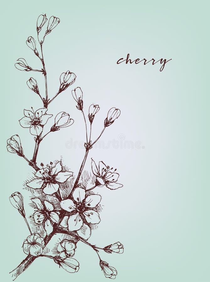 Konstnärliga blommor för vektor stock illustrationer