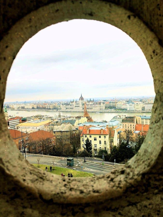 Konstnärligt Budapest parlamentskott royaltyfria bilder