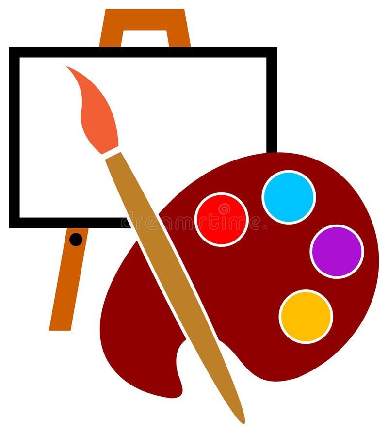 konstnärlogostudio vektor illustrationer